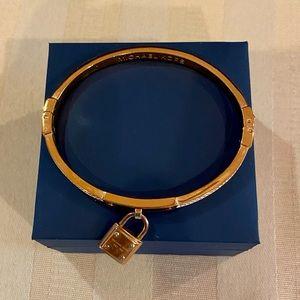 Michael Kors Rose Gold Pave Lock Bangle